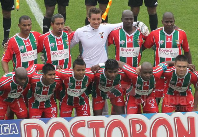 Jugadores de Patriotas Boyacá. Foto: Interlatin