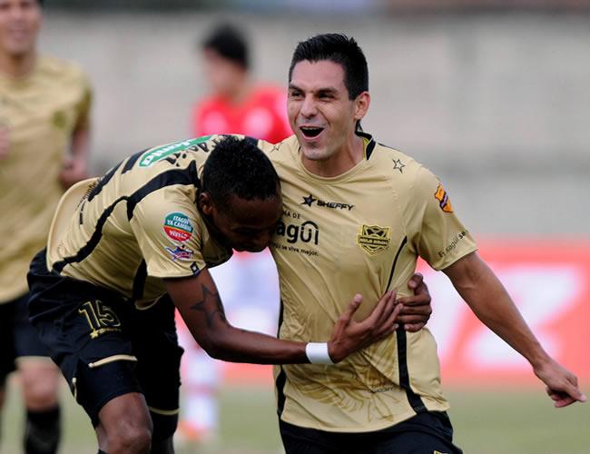 Celebración de los jugadores de Itagüí. Foto: EFE