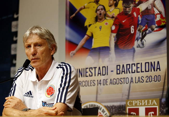 El seleccionador argentino de Colombia, José Pekerman. Foto: EFE