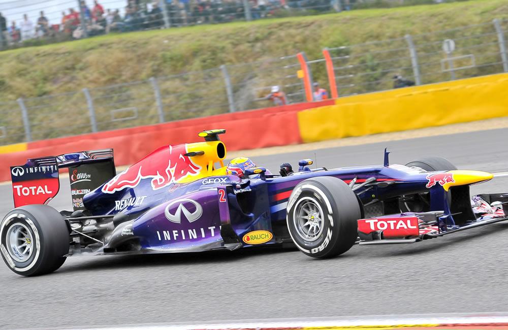 El piloto australiano Mark Webber durante la clasificación del Gran Premio de Bélgica. Foto: EFE