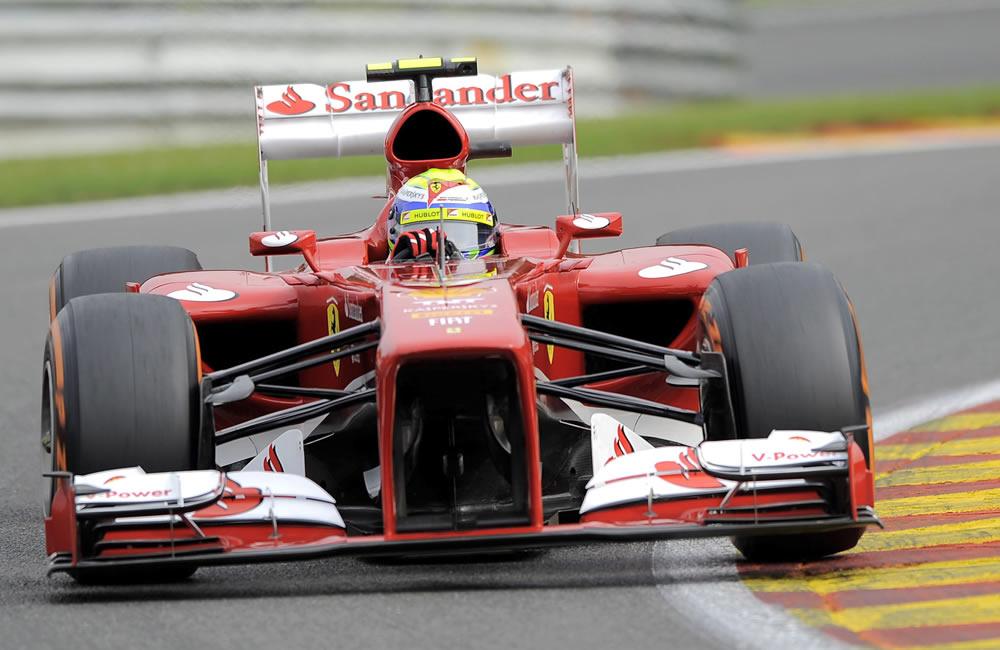 El piloto brasileño Felipe Massa durante la clasificación del Gran Premio de Bélgica. Foto: EFE