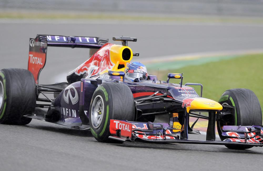 El piloto alemán Sebastián Vettel durante la clasificación del Gran Premio de Bélgica. Foto: EFE