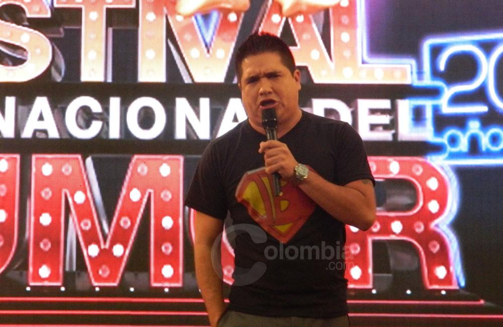 El humorista 'Boyacoman' presente en el Festival Internacional del Humor. Foto Alejandra Fontecha e Ivon Herrera