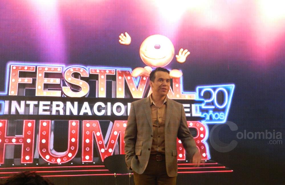 El humorista 'Polilla' presente en el Festival Internacional del Humor. Foto Alejandra Fontecha e Ivon Herrera