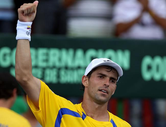 Santiago Giraldo, integrante del equipo colombiano en la Copa Davis. Foto: EFE