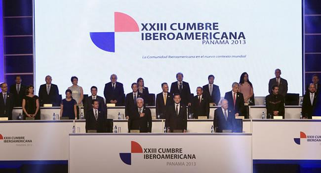 Acto de inauguración de la XXIII Cumbre Iberoamericana de Panamá. Foto: EFE