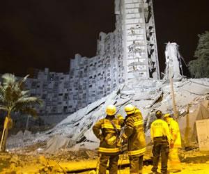 Rescatan últimos tres cuerpos del edificio Space