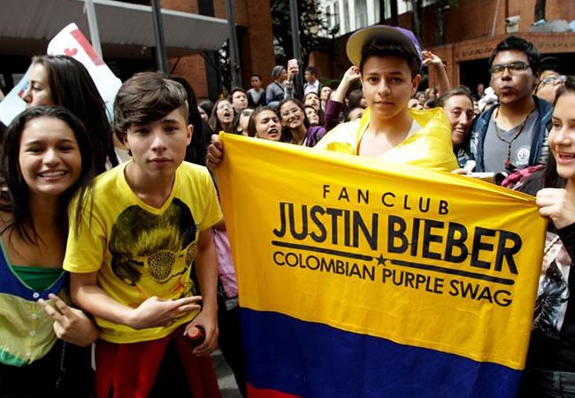Los fans se alistan para ver a Justin Bieber en Bogotá