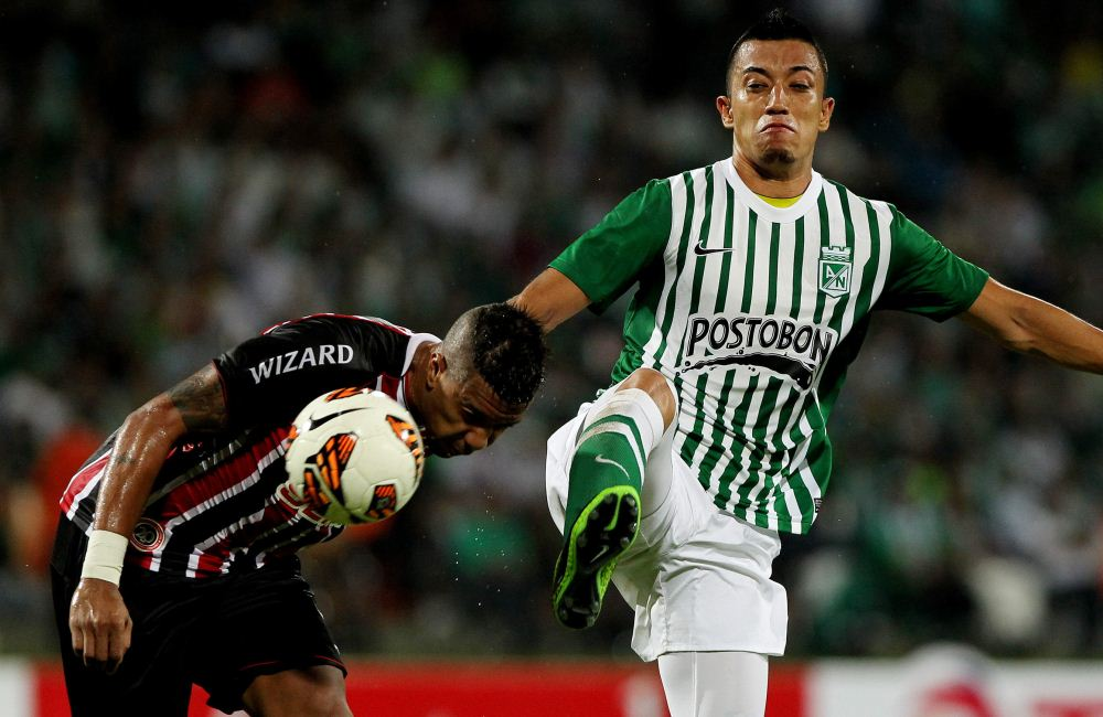 El 0-0 entre Nacional y São Paulo en Medellín dejó eliminados a los verdolagas. Foto: EFE