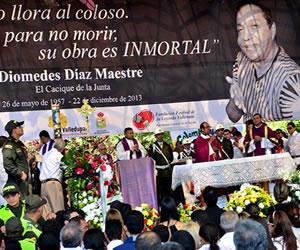 Con música vallenata despiden a Diomedes Díaz