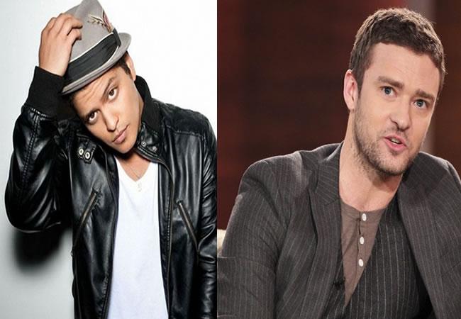 Bruno Mars rebasa a Justin Timberlake con el disco más vendido de 2013