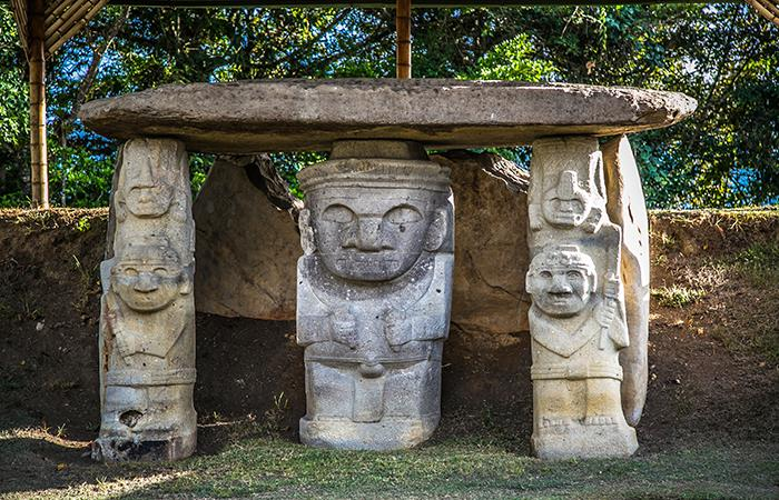 El Parque Arqueológico de San Agustín se encuentra ubicado a 33 kilómetros de Pitalito