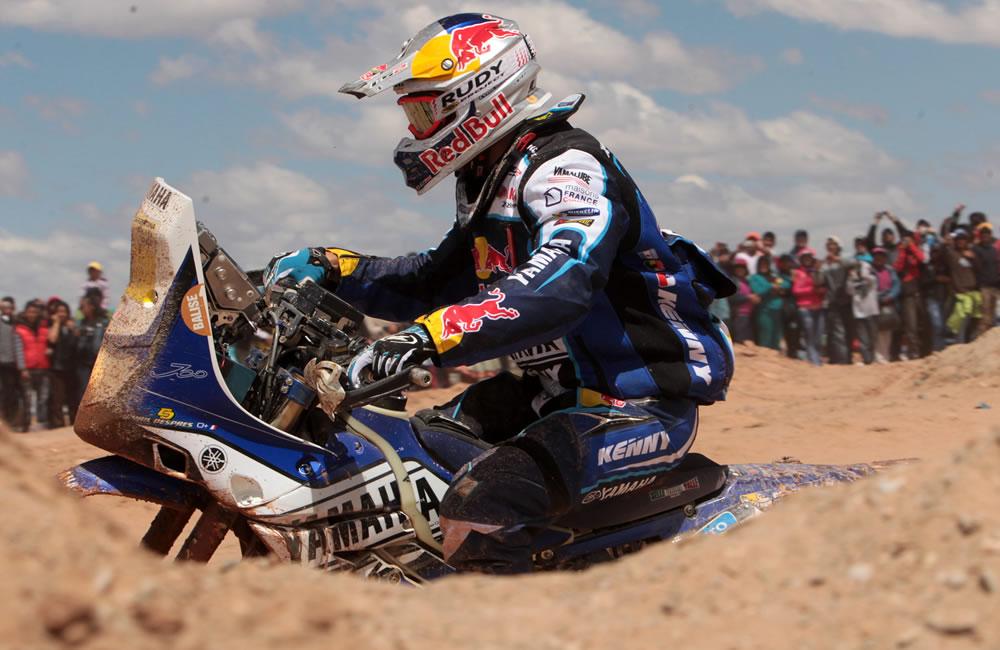 Despres gana octava etapa del Dakar en motos por delante de Barreda y Coma. Foto: EFE
