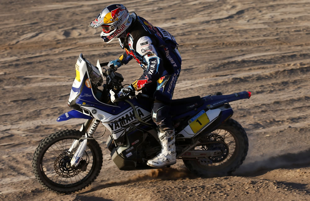 El piloto francés Cyril Depres durante la undécima etapa del rally Dakar. Foto: EFE