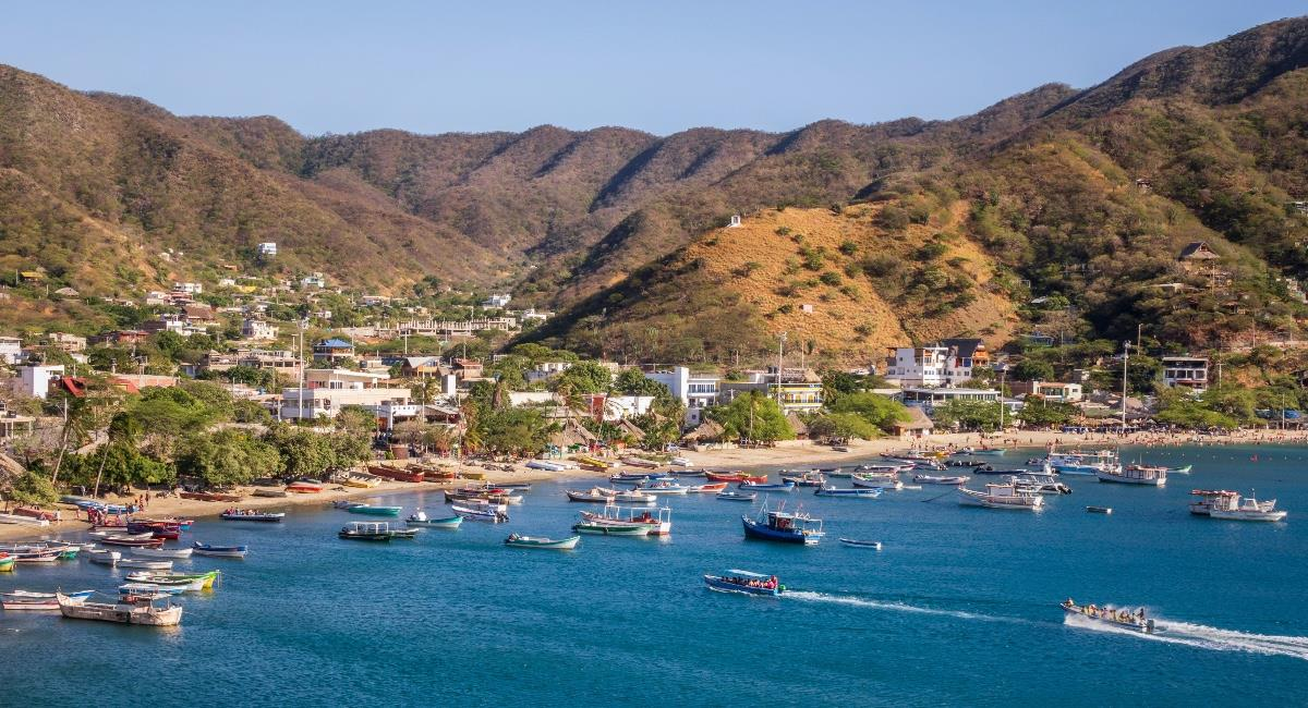 Taganga, sitio turístico infaltable en tu visita a Santa Marta. Foto: Shutterstock
