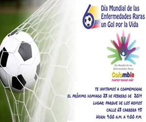 ¡Un gol por la vida! conmemoración del Día Mundial de las Enfermedades Huérfanas