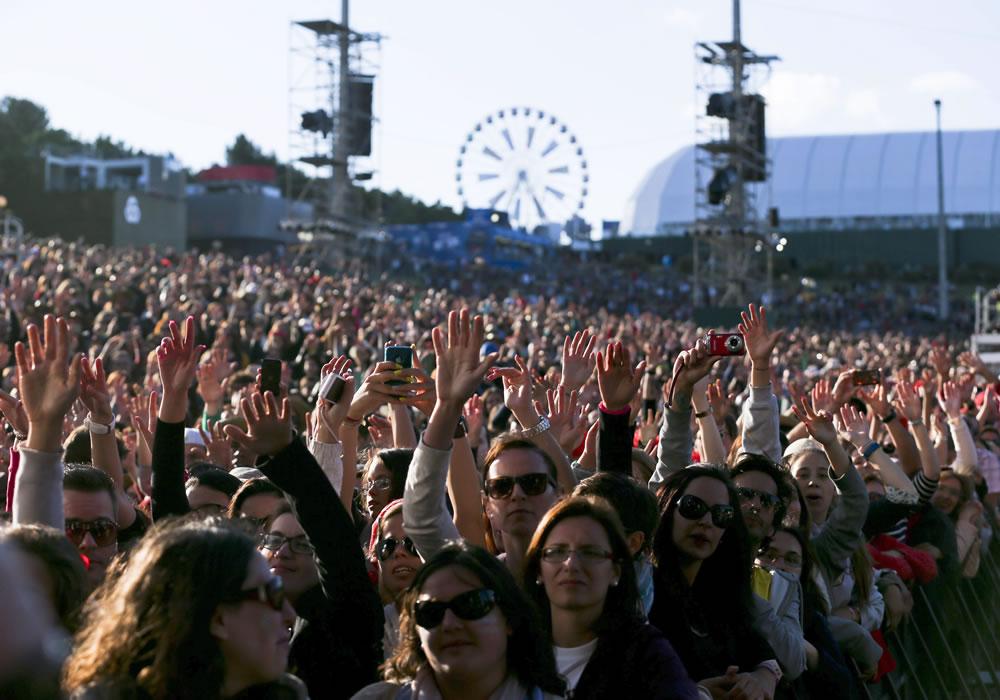 Robbie Williams prendió el primer día del festival Rock in Rio