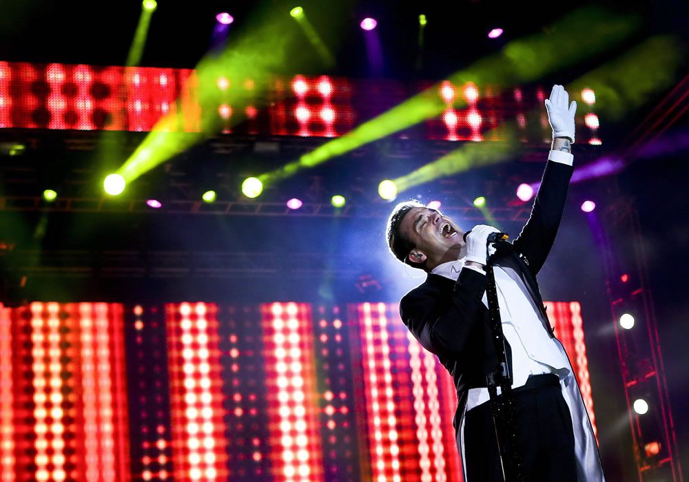 Robbie Williams prendió el primer día del festival Rock in Rio