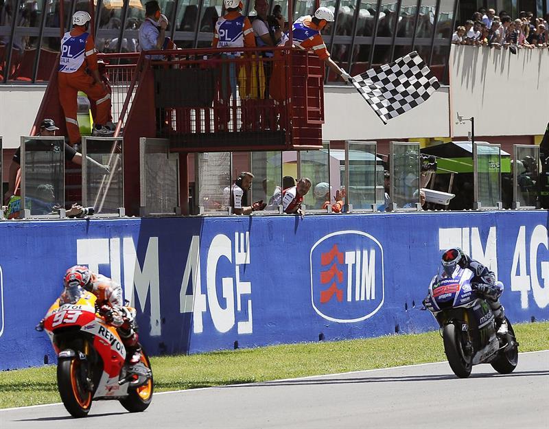 El piloto Marc Márquez durante el Gran Premio de Italia. Foto: EFE
