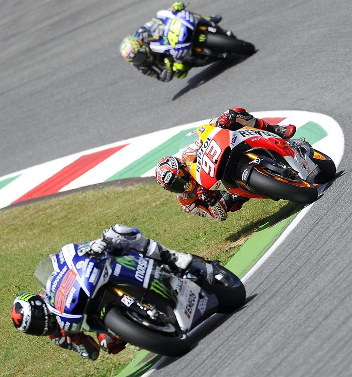 Pilotos durante el Gran Premio de Italia. Foto: EFE