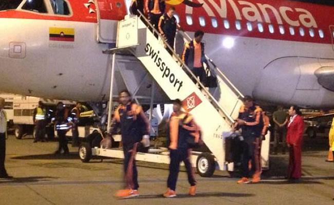 La selección colombiana aterriza en Brasil y se instala en sede del Sao Paulo. Foto: Twitter