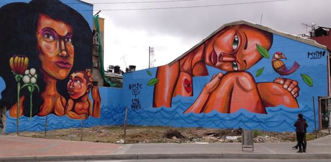 Artista colombiano, inquieto por dilema filosófico planteado por Street Art