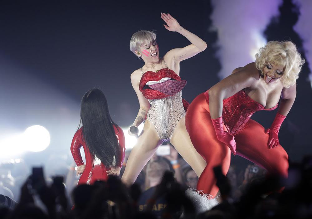 Miley Cyrus en Austria. EFE