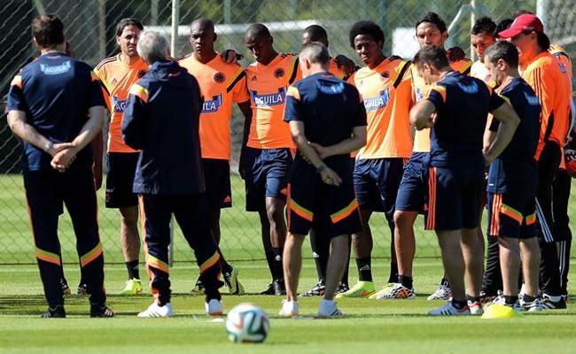 Jugadores de la selección colombiana de fútbol. Foto: EFE