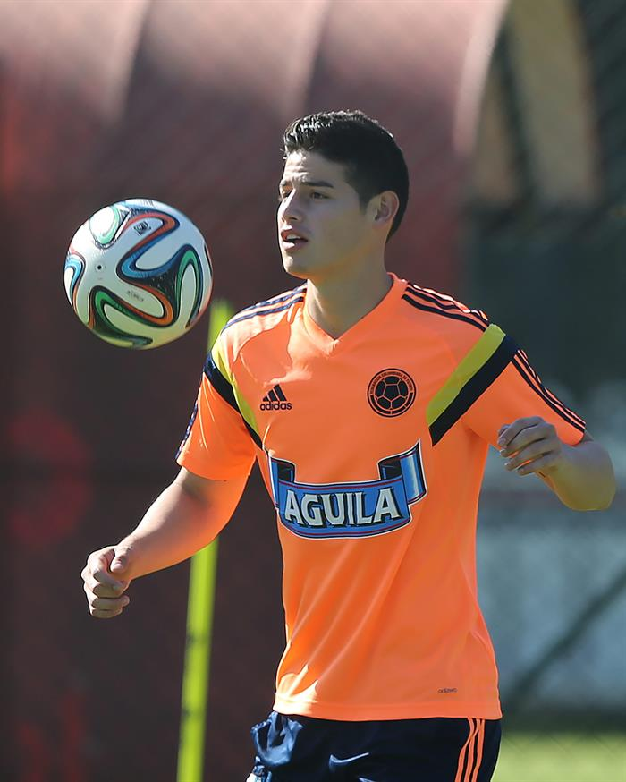 James Rodríguez de la selección colombiana de fútbol. Foto: EFE