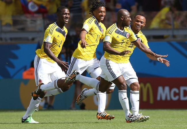 Así festejó Colombia sus primeros tres puntos. Foto: EFE