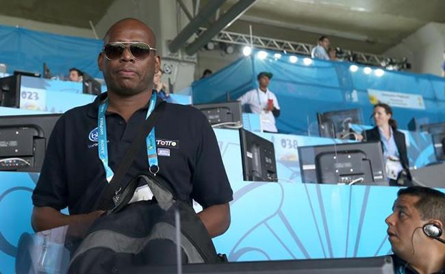 El comentarista y exfutbolista Faustino Asprilla. Foto: EFE