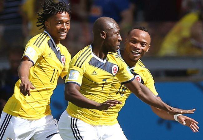 Pablo Armero hizo el primer tanto de Colombia en Brasil 2014. Foto: EFE