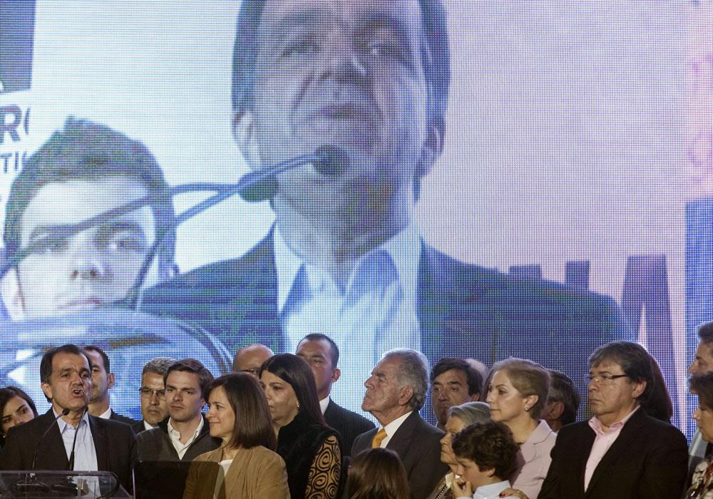 Seguidores en la sede del candidato Óscar Iván Zuluaga. Foto: EFE