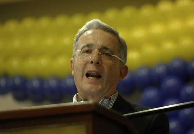 Álvaro Uribe Vélez. Archivo. Foto: EFE