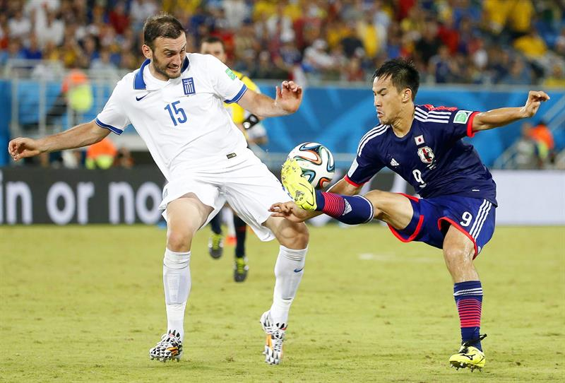 Japón y Grecia empataron sin goles en el Estadio das Dunas de Natal. Foto: EFE