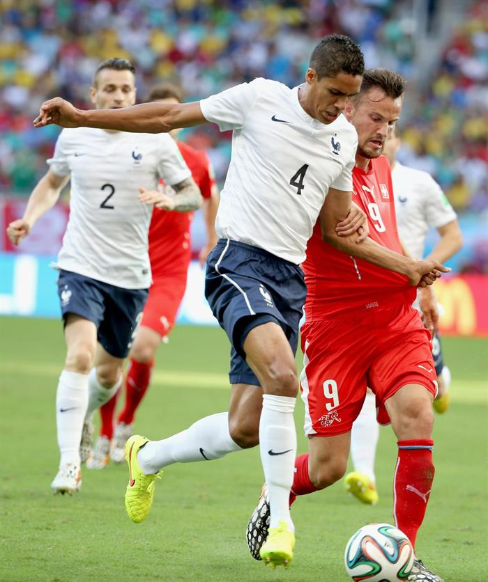 Así goleó Francia a Suiza (2-5) con un pie en octavos de final en Brasil 2014. Foto: EFE