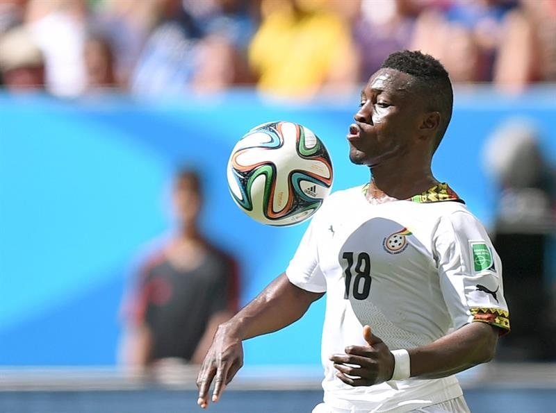 Majeed Waris of Ghana controls the ball during the FIFA World Cup 2014 group G. Foto: EFE
