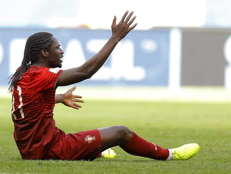 Eder of Portugal reacts during the FIFA World Cup 2014 group G. Foto: EFE