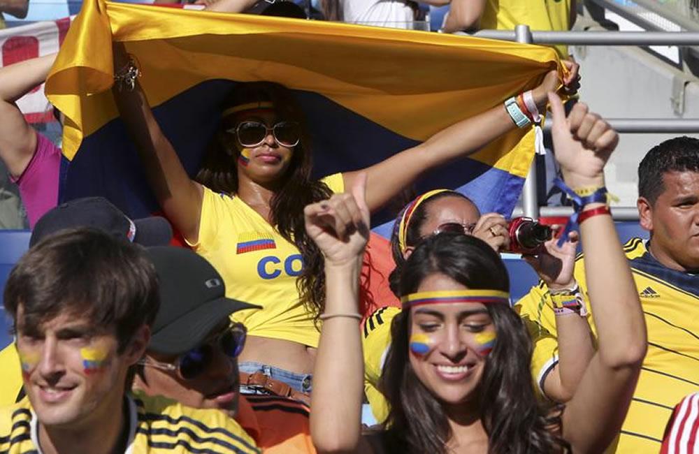 Aficionados colombianos. Foto: EFE