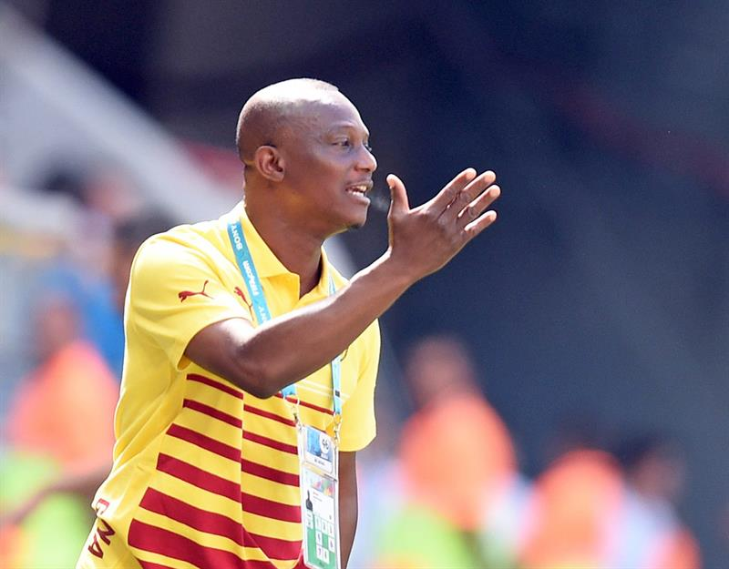Ghana's head coach James Appiah gestures during the FIFA World Cup 2014 group G. Foto: EFE