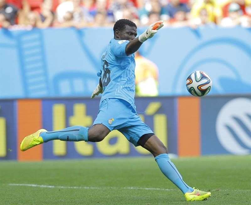 Goalkeeper Fatawu Dauda of Ghana in action during the FIFA World Cup 2014 group G. Foto: EFE