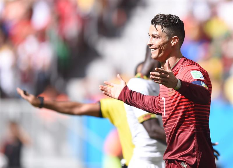 Cristiano Ronaldo of Portugal reacts during the FIFA World Cup 2014 group G. Foto: EFE