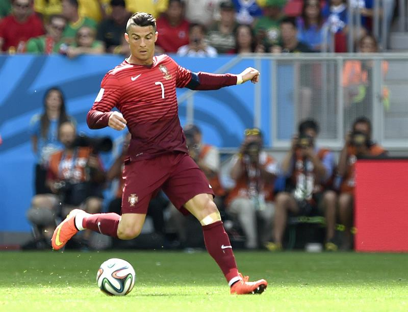 Cristiano Ronaldo of Portugal in action during the FIFA World Cup 2014 group G. Foto: EFE