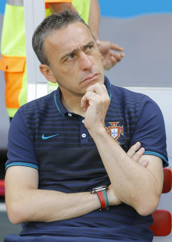 Portugal's coach Paulo Bento before the FIFA World Cup 2014 group G. Foto: EFE