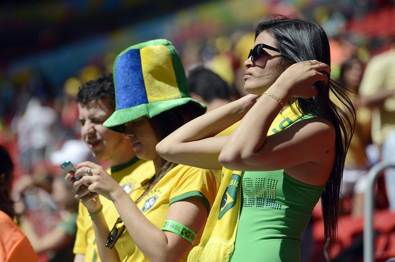 Fanáticos en el partido Portugal-Ghana por el Grupo G de Mundial de Brasil 2014. Foto: EFE