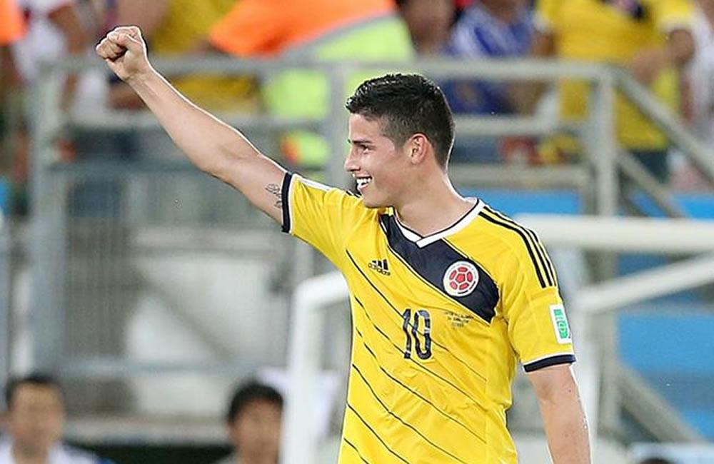 El jugador colombiano James Rodríguez. Foto: EFE