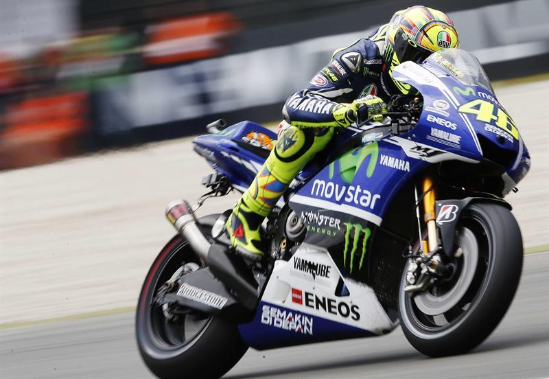 El piloto italiano Valentino Rossi durante el Gran Premio de Holanda. Foto: EFE