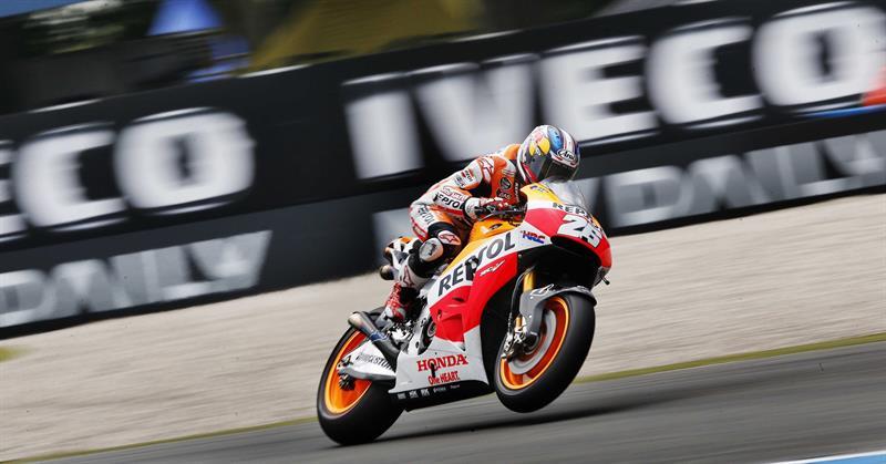El piloto español Dani Pedrosa durante el Gran Premio de Holanda. Foto: EFE