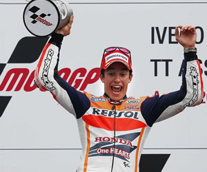 El piloto español Marc Márquez ganador del Gran Premio de Holanda