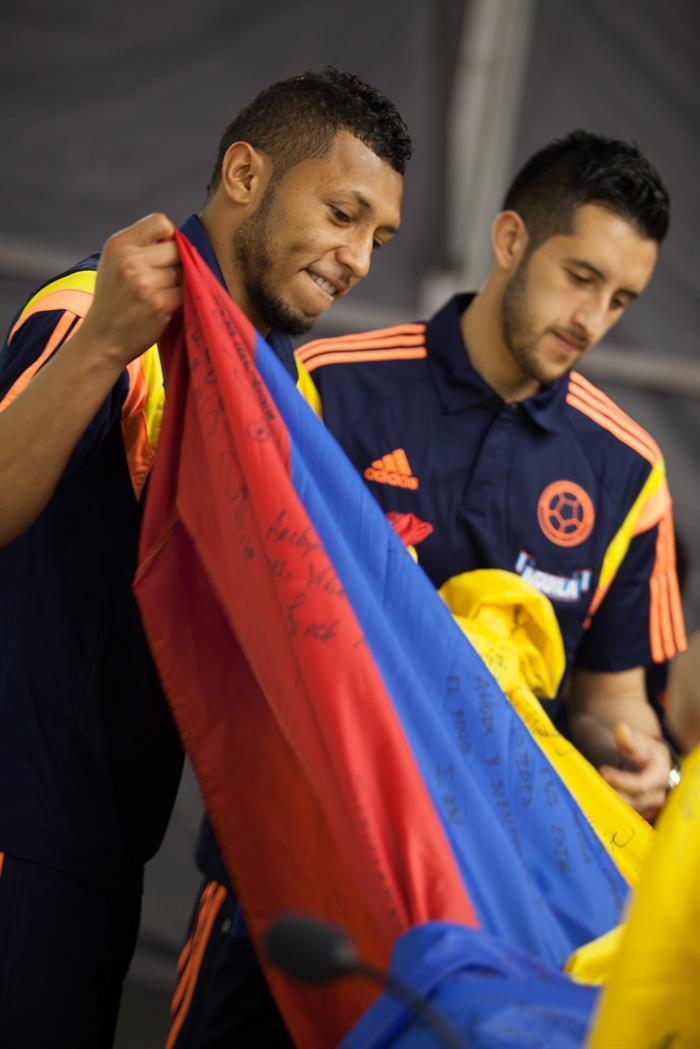 Colombia se entrena pensando en Brasil
